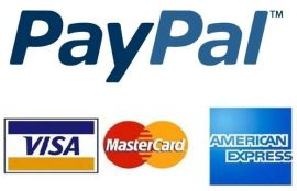 American Express Visa Paypal